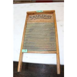 "Brass Wash Board - (Shapleigh's - Est. 1843) - 24"" High by 12"" Wide - Very Unique"