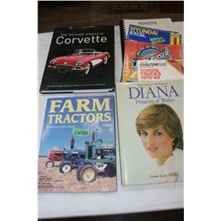 A Selection of Auto & Farm Books and Lady Diana