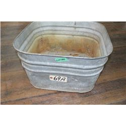 Square Galvanized Washtub