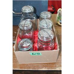Collection of Perfect Seal Sealers (1-2 Qt. - Green; 1-1 Qt.-Green; 2-1 Qt. - Blue; 1-1 Qt. -Purple