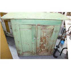Canadiana Green Kitchen Cupboard