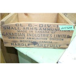 CIL Small Arms Ammunition Box (Wooden)