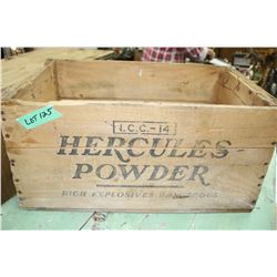 Wooden Hercules Powder Box (for explosives)