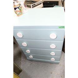 4 Drawer Blue Dresser
