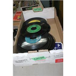 Box of 45 rpm Records