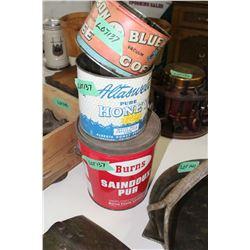 3 Collector Tins - Blue Ribbon, Honey & Burns)