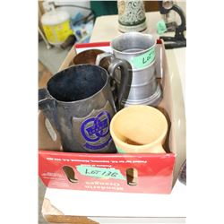 Box of Cups and Mugs - Medalta, Copper, etc.