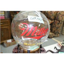 Millers' High Life Beer Globe