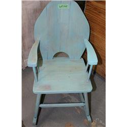 Child's Blue Rocking Chair