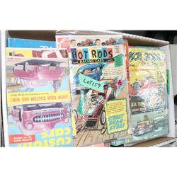 Box w/Old Parts Books & Comic Books