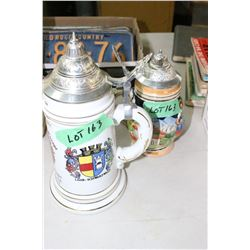 2 German  Steins