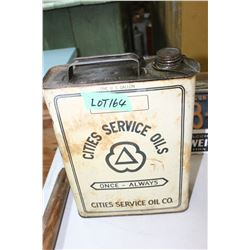 U.S. Gallon Tin 'Cities Service Oils' - Full
