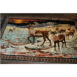 "Animal Scene Wall Tapestry - approx. 80"" x 48"""