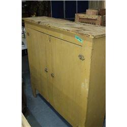Primitive Cabinet with 2 Doors & Shelves