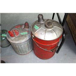 2 Galvanized Gas Cans