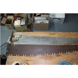 2 One Man Cross Cut Saws - Approx. 4' long