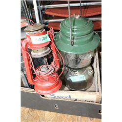 Old Gas Lantern and Small Barn Lantern