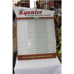 "Kyanize Paint Sample Showcase -  22"" x 22"""