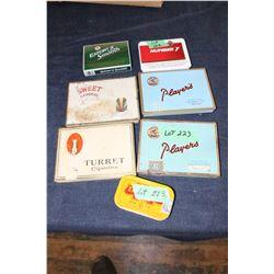 7 Cigarette and Tobacco Tins
