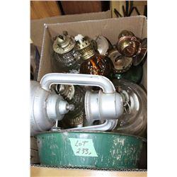 Box of Small Lamp Bases & Parts