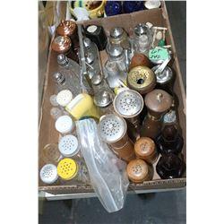 Box of Salt & Pepper Shakers