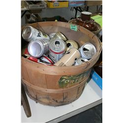 Plum Basket and Beer Cans
