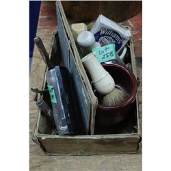 Box of Shaving Supplies