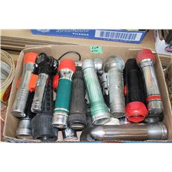 Box of Old Flashlights