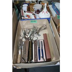 Box w/Bottle Openers, 2 Scales & 'Parker' Pen Set