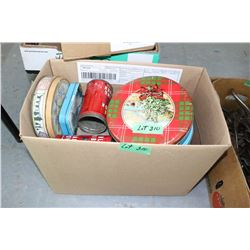 Box w/Assorted Tins