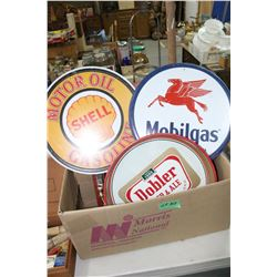 Box w/Trays and Oil Signs