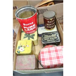 "Box w/Tins including ""Blackit"""
