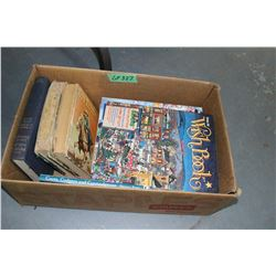 Box of Catalogs & Old Books (Roy Rogers)