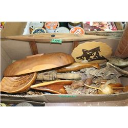 Large Box of Wooden Items