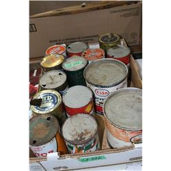 Flat of Oil & Grease Tins