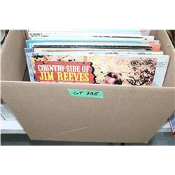Box of 38 - 33 rpm Records - Jim Reeves, Gene Autry, Charley Pride, etc.