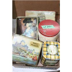 Box of Collectible Tins