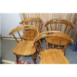 Oak Kitchen Chairs (4)