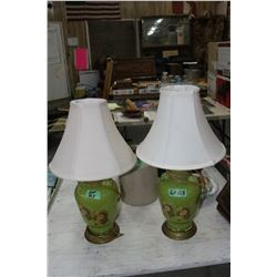 Pair of Mid-Century Glass-Based Lamps