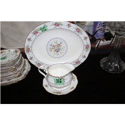 Royal Albert 'Petite Point' Serving Platter, Gravy Boat & Saucer