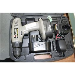 Cordless Drill w/Case, Batteries & Charger