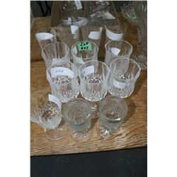 13 pcs. of Stemware (10 pcs. are Crystal)