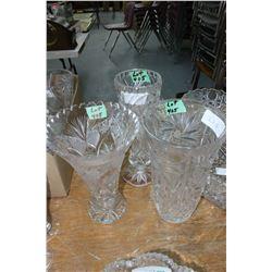 3 Vases (Crystal)