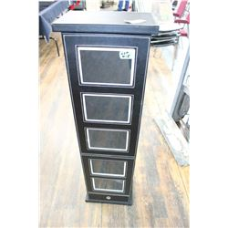 Tall Black Cabinet for Photos & Keepsakes