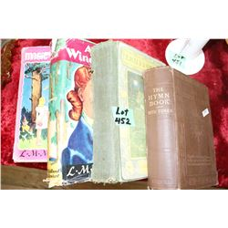4 Collector Books:  1909 Hymn Book, 'Emily's Quest' by LM Montgomery, 'Anne of Windy Poplars' by LM