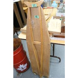 Pair of Wooden Crutches and an Ironing Board