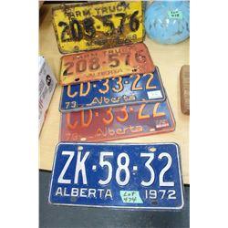 5 Old License Plates (Oldest - 1950)