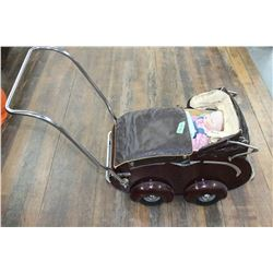 1950's Doll Carriage & a Porcelain Doll Handcrafted by a Master Doll Maker