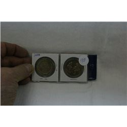 Canada vs Russia Hockey Series Tokens (2)