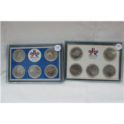 Edmonton Commonwealth Games Six Coin Set (2 Sets)